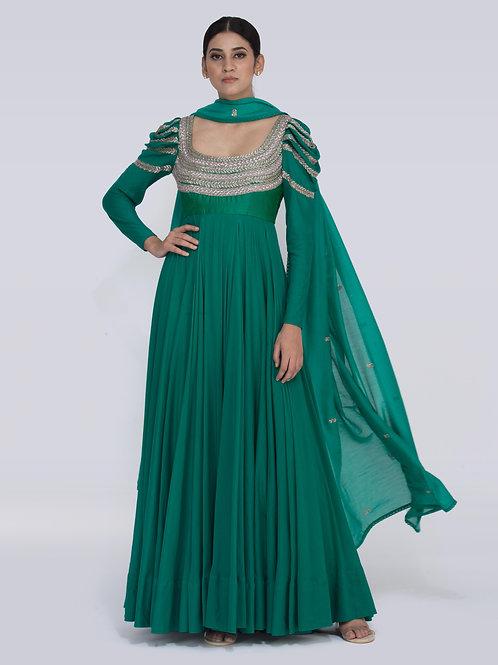 Rama Green Brianna Chitra Dress