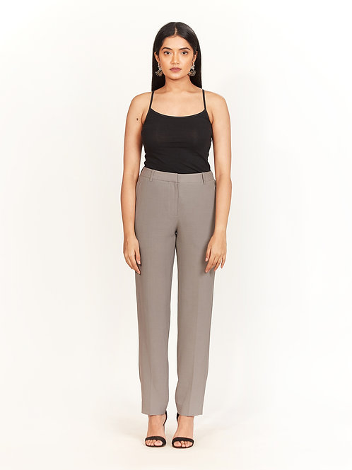 Grey Fitted Trouser
