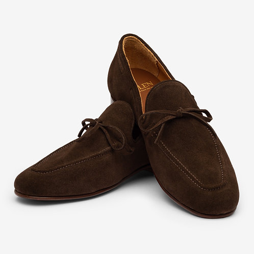 Chocolate Brown Lace Loafers