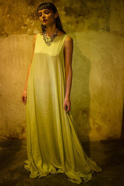 Lime Low Back Dress