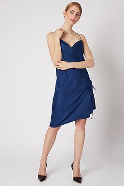 Blue Spaghetti Dress