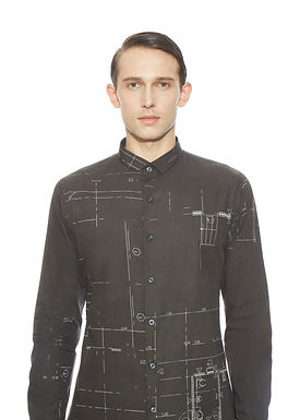 Black Clean Cut Shirt