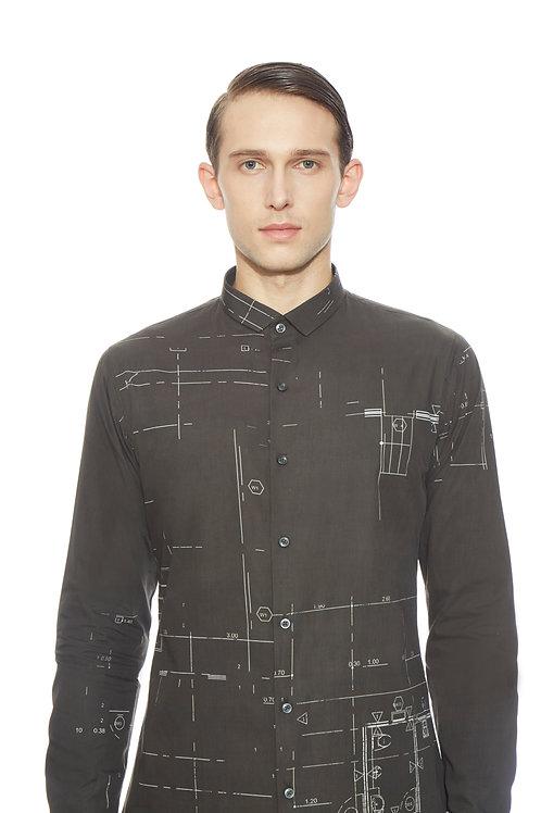 Black Clean Cut Shirt
