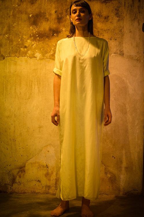 Lime Boat Neck Dress