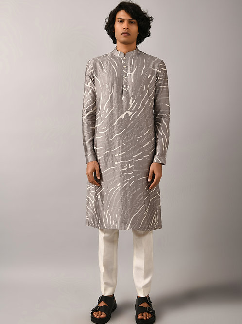 Grey Terrain Maize Kurta