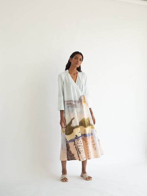 Landscape Print Earth Dress