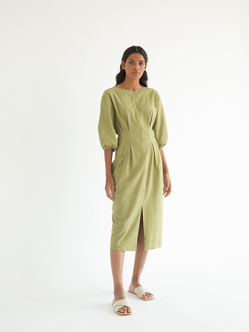 Dull Green Shaft Dress