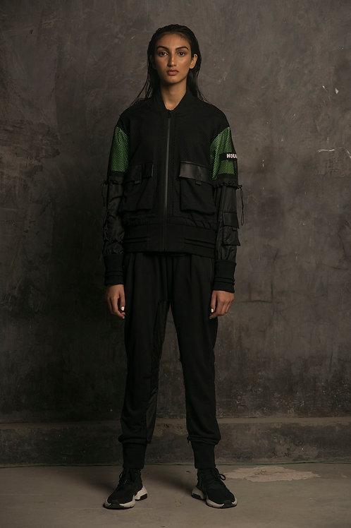Black Utility Bomber Jacket
