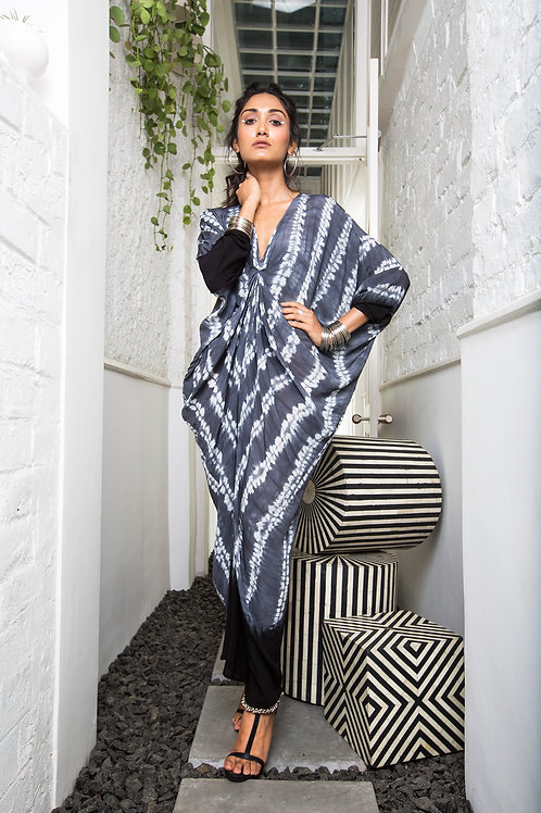 Grey Rekha Drape Dress