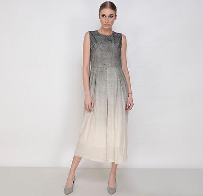 Rays Jumpsuit In Noil Silk