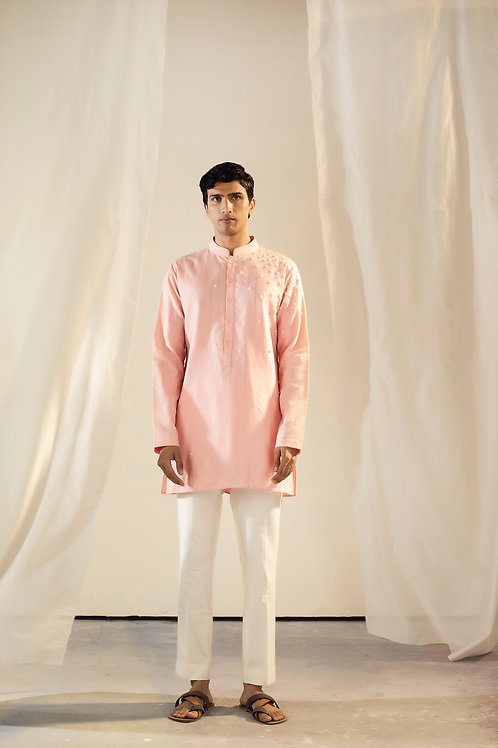 Pink Short Kurta