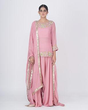 Blush pink Misarana Short Kurta Set