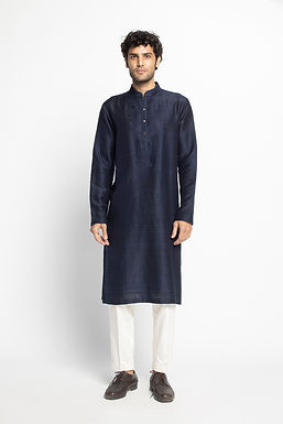 Blue  Kantha Kurta Set