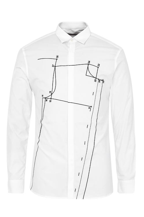 White Sloper Shirt