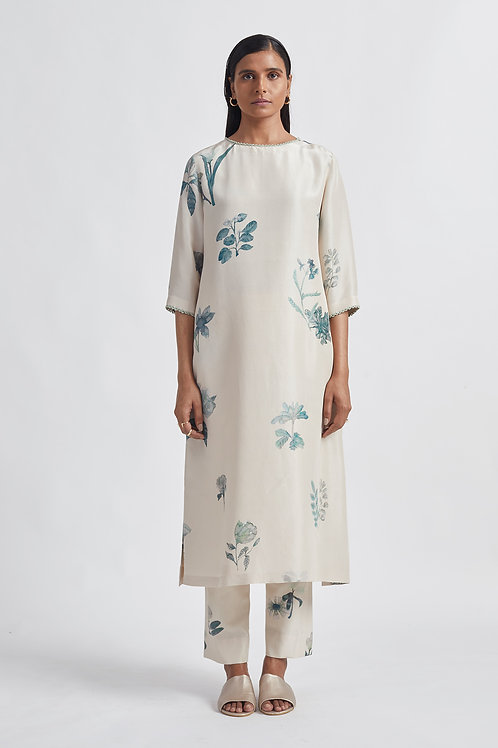 Ivory Bloom Kurta Set