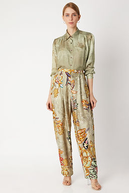 Gold Printed Trouser