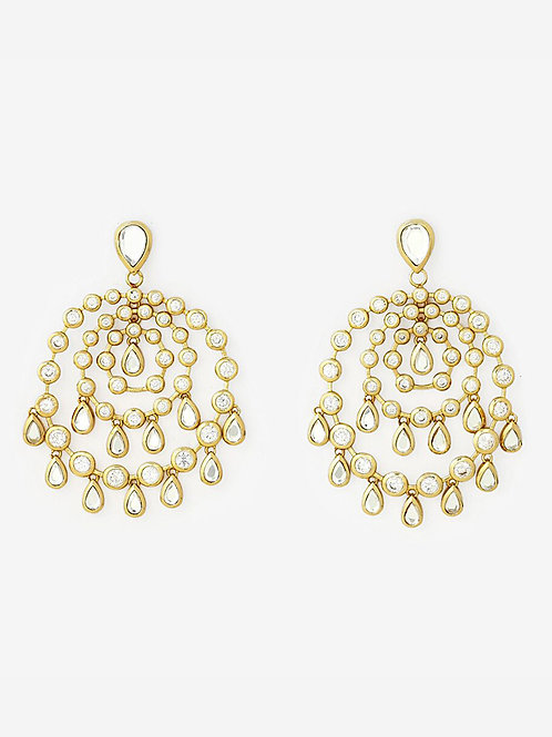 Gold Pyramid Mirror Allure Earrings