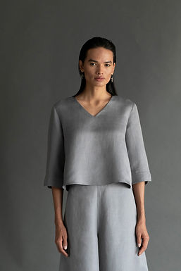 Grey Colette Top