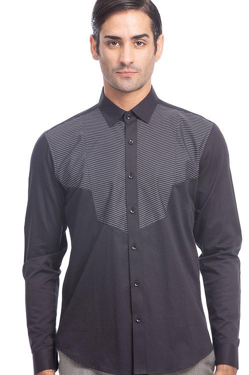 Black Multi Panel Shirt