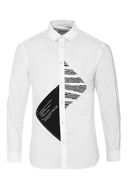 White Functional Lines Shirt