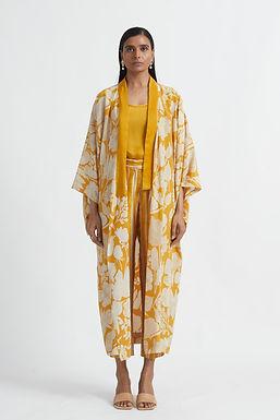 Yellow Potpourri Kimono