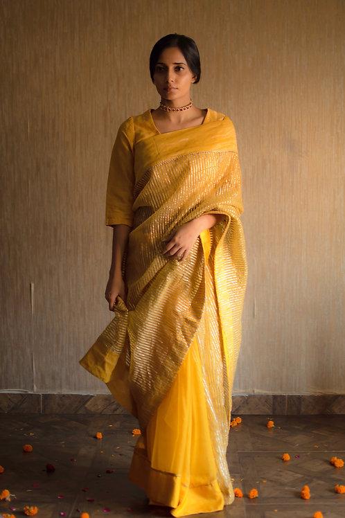 Yellow Cc Saree