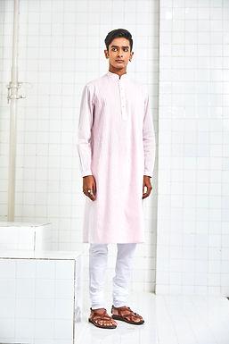 Pink Bhaniyana Pintuck Kurta Set