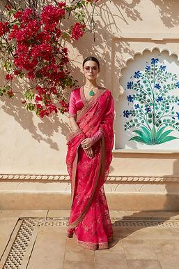Hot Pink Indumati Saree