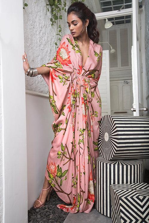 Pink Gather Kite Dress