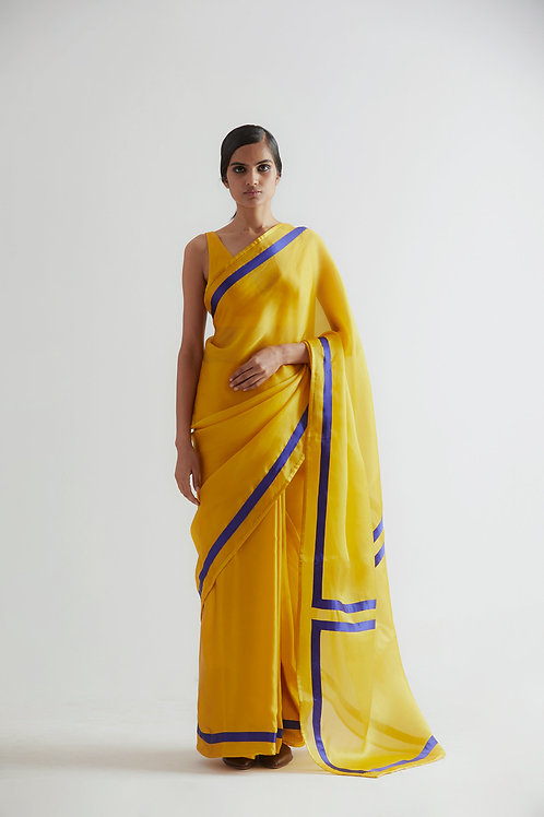 Yellow Clubhouse Saree