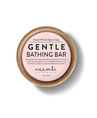 French Pink & Multani Clay Gentle Bathing Bar