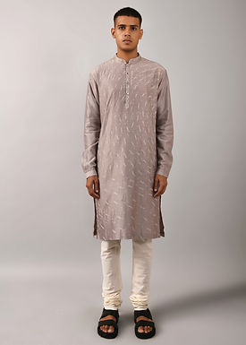 Grey Shooting Star Kurta Set