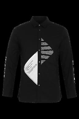 Black Functional Lines Shirt