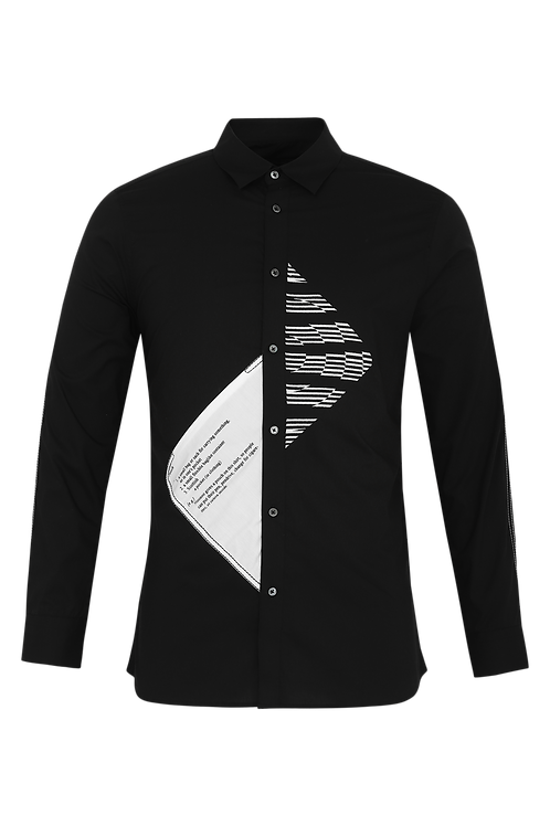 Black Functional Lines Shirt