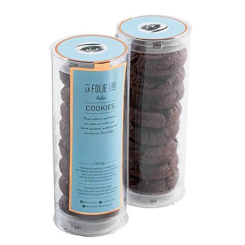 Dark Chocolate Seasalt Sable Cookies