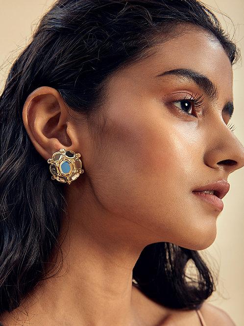 Limelight Oval Mirror Stud Earrings
