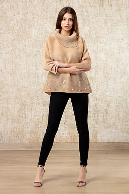 Beige Top with Embellishments