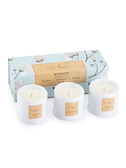 Woody Set of 3 Candle