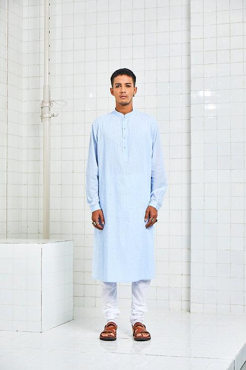Blue Bhaniyana Pintuck Kurta Set