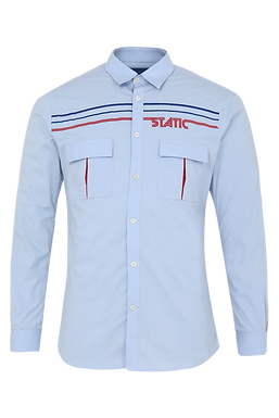 Blue Static Shirt