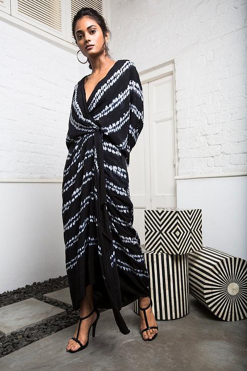 Black KK Wrap Dress