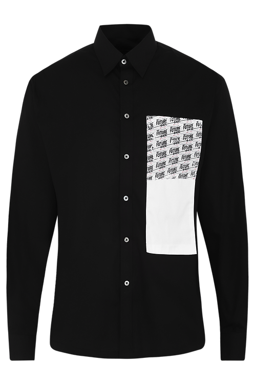 Black Mock Pocket Shirt