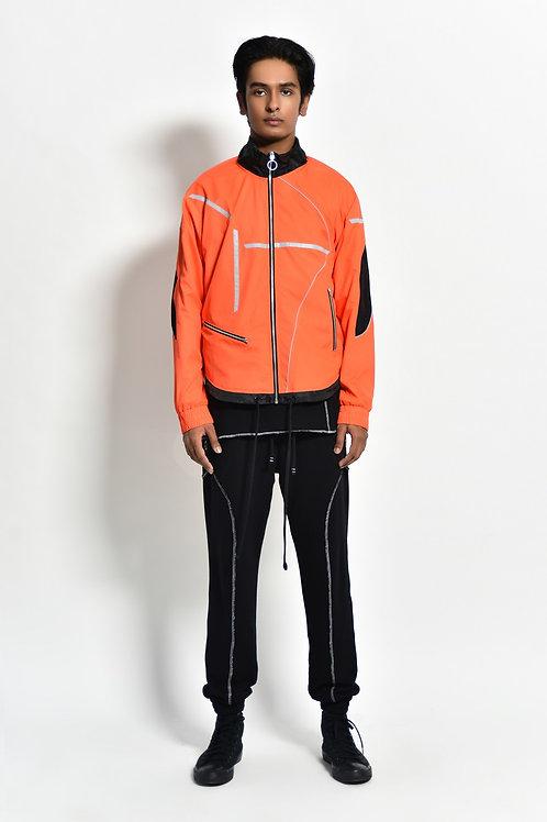 Orange Active Windbreaker
