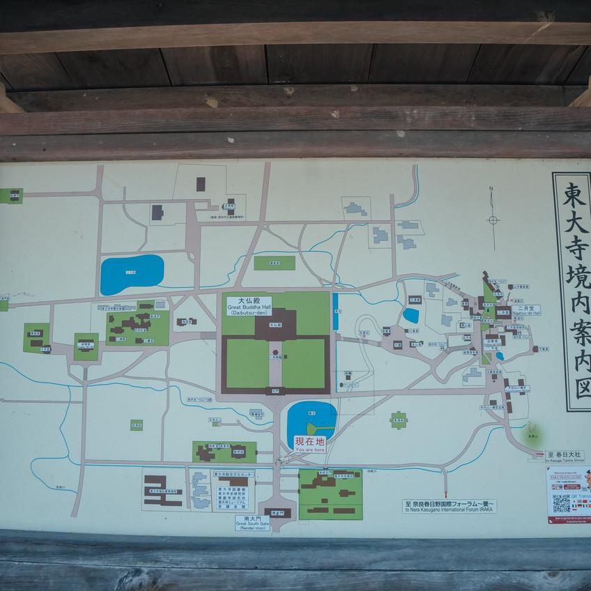 ဒါက သမင်ဥယျာဉ် နဲ့ Todai-ji ဝန်းကျင်မြေပုံ