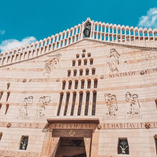 နာဇရက် (Nazareth) မြို့က Santuario Di Nazareth ဘုရားကျောင်း