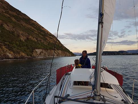 Sunset sailing Lake Wanaka Noelex25