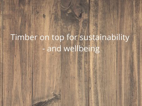 Timber comes out on top for sustainability - and wellbeing