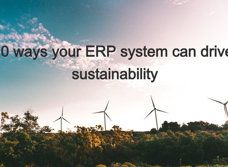 10 ways a cloud ERP system can drive sustainability in your merchant business