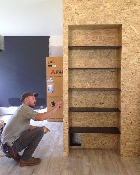 Farmhouse - Custom inbuilt bookshelf