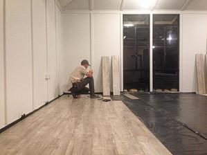 Farmhouse Reno - flooring going in